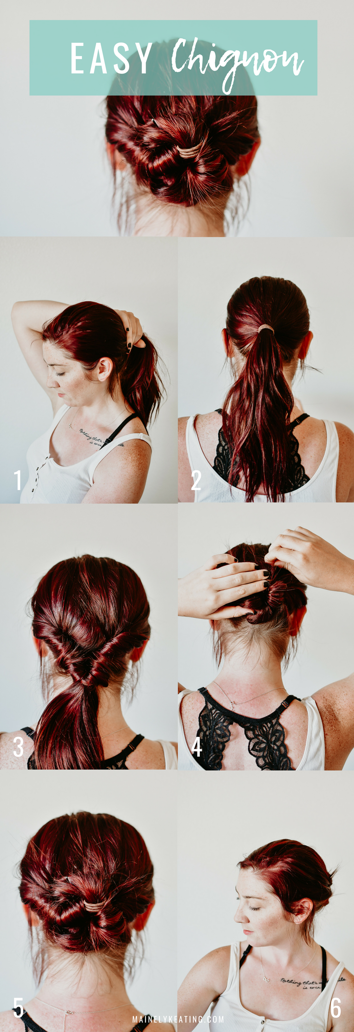 3 Fun and Easy Summer Hairstyles - Easy Chignon