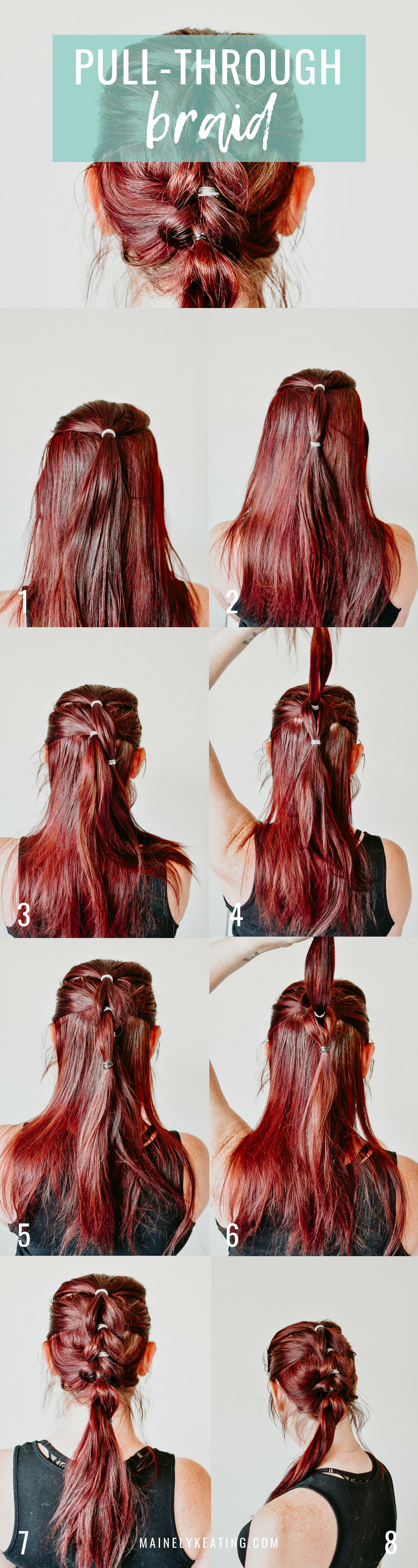 3 Fun and Easy Summer Hairstyles - Pull-Through Braid