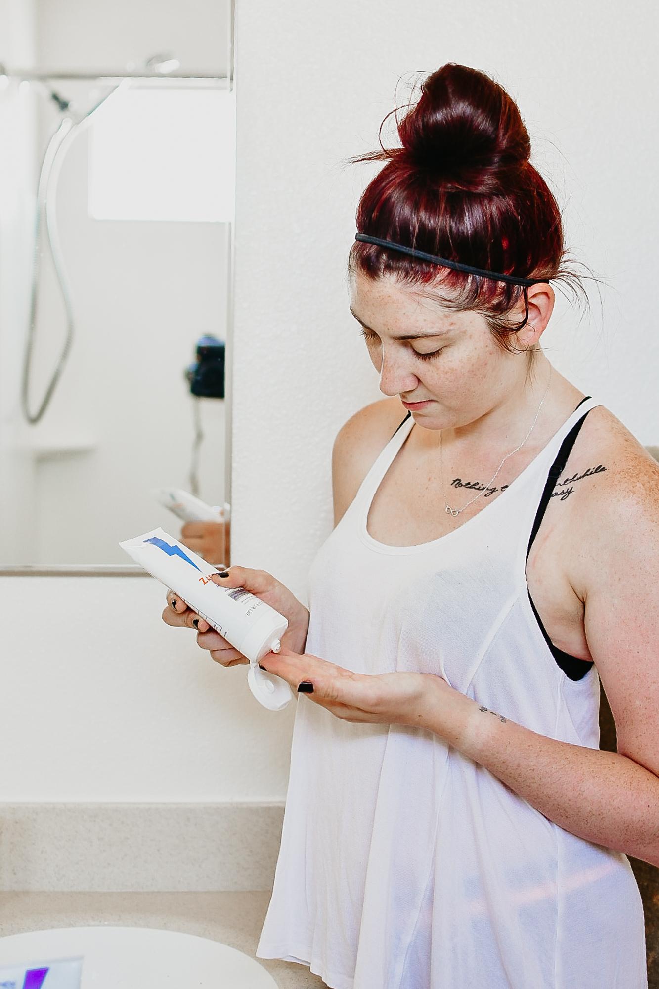 How I Combat Postpartum Acne With ZAPZYT   MainelyKeating.com